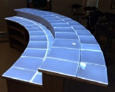 SLABlite backlights onyx countertops