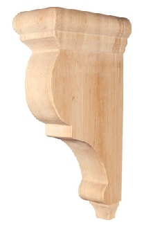 wooden bar bracket