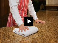 Short videos show how to maintain your granite countertops