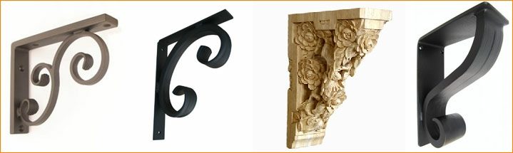 Click for more granite countertop brackets