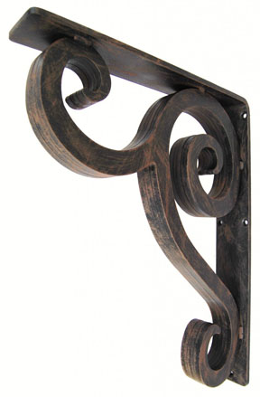 wrought iron countertop support brackets