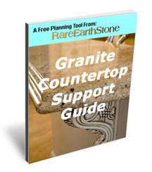 How to support granite countertops